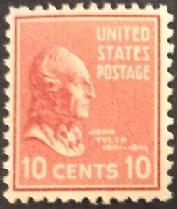 1938 10c Tyler issue in the Presidential Series, Scott #815, MNH, VF
