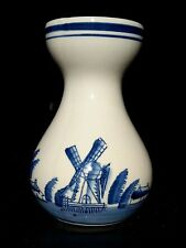 Hyacinth Bulb Forcing Vase Delft Blue Holland Windmill Ceramic Sailing Ships