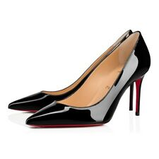 Classic Christian Louboutin Kate Heel 85mm Black Patent Leather size 11