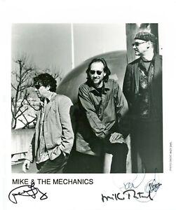 MIKE & THE MECHANICS  Autogramm original signiert Foto 20x25 80er Jahre