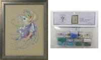 MIRABILIA Cross Stitch PATTERN & EMBELLISHMENT PACK Dec Blue Topaz MD162