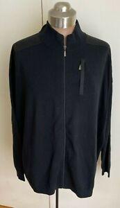 NEW Black Mens Knit Full Zip Sweater Size 6XL
