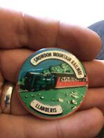Vintage Pin Badge. Snowden Mountain Railway. Llanberis.
