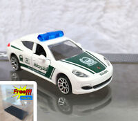 Majorette Porsche Panamera Dubai Police White 1/64 no Package Free Display Box