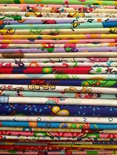 10 Fat Quarters Bundle CHILDREN GIRLS Polycotton Fabric STOCK CLEARANCE Remnants