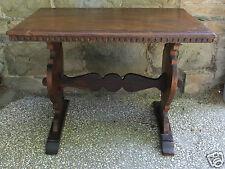 Tavolino basso stile neorinascimentale legno di noce - primi '900
