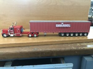 Firstgear DCP Samuel 1/64 389 Pete And A Six Axle Curtain Side Trailer