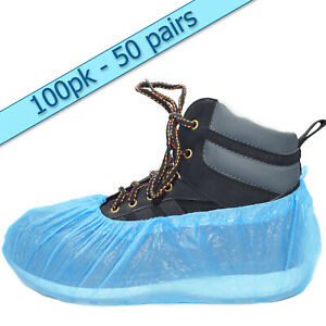 100 x disposable shoe covers overshoes 2g (50 pairs) Embossed great value