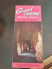 Vintage Tourist Brochure 1950s Grand Caverns Grottoes Virginia