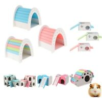 Colorful Wooden Hamster House Pet Gym Squirrel Rabbit Climb PlayGround Bed Nest