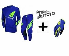KIT COMPLETO TUTA CROSS UFO SEQUENCE ROSSO GIALLO FLUO MADE IN ITALY TG L+50