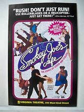 SMOKEY JOE'S CAFE Herald  JERRY LEIBER / MIKE STOLLER Virginia Theatre NYC 1995