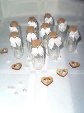 10x Mini Glasflasche Gastgeschenk Schleife Hochzeit Kommunion Konfirmation
