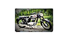1963 a65 Bike Motorcycle A4 Photo Poster