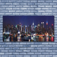 Leinwand-Bilder Wandbild Leinwandbild 140x70 Wolkenkratzer Skyline Gebäude