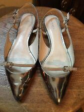 "COACH ""WOOSTER"" SILVER  SANDALS SHOES SIZE 8  B"