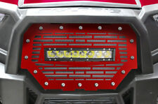 "RZR 1000 Light Bar Steel Grille Polaris UTV 16-17 RZR RED +10"" 40W LED Lightbar"