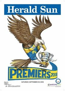 2018 West Coast Eagles LIMITED EDITION Premiership Poster Herald Sun #437 KNIGHT