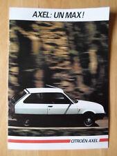 CITROEN AXEL Range 1985 French Mkt Sales Brochure Depliant - Oltcit