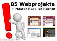85 WEBPROJEKTE + Bonus Webprojekt Script Scripte Internet + EINZELPLATZ-LIZENZ