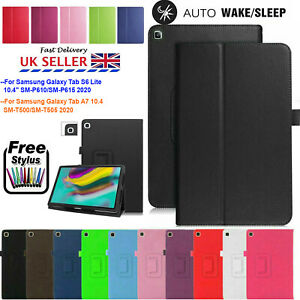 """For Samsung Tab A7 T500 S6 Lite 10.4"""" 2020 Leather Stand Flip Cover Tablet Case"""