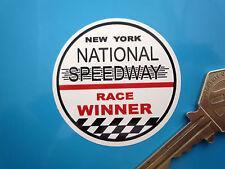 NEW YORK National Speedway Race VINCITORE Adesivo Auto Da Corsa D'epoca 50mm