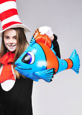 Cat In The Hat Style Prop Inflatable Fish SINGLE ITEM ASSORTED COLOUR