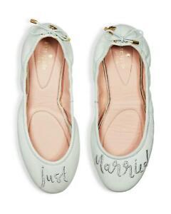 Pale Mint Leather 'Just Married' Bridal Pumps Size UK 4 EU 36 Kate Spade Gwen