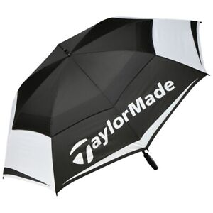 "TaylorMade Tour 64"" Golf Ubrella Double Canopy - Black/White - New"
