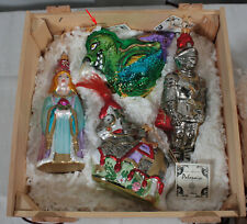 Polonaise By Komozja Medieval Collection 4 Pc Hand Blown Glass Ornament Box Set
