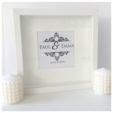 Personalised Wedding Monogram Picture Frame for Anniversary, Engagemet, Favours