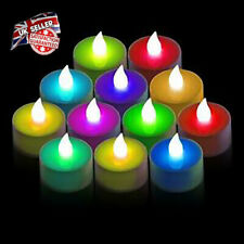 Set Of 12/24 LED Candle Tea Lights T Light Flameless Flickering Colour Changing