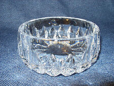 "STUNNING Gorham Althea Full Lead Crystal 4 1/2"" Clear Ribbed Bowl Home Decor EUC"