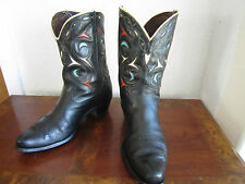 Acme Vintage 1940's PeeWee Shorty Cowboy Boots !! Cutout inlay!!  Size 9.5 D