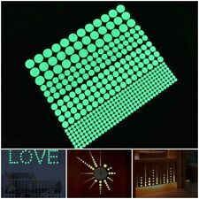 400pcs Luminous Glow Dark Star Round Dot Wall Stickers Home Ceiling Decor EL