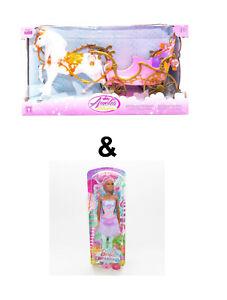 Amelia Princesas Carroza Caballo & Barbie Muñeca Dreamtopia Bonbon-Fee FCR45