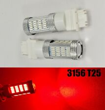 Reverse Backup Light 92 SMD LED Bulb Red T25 3156 3456 B1 #1 For Buick Mazd