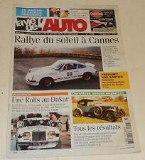 LA VIE DE L'AUTO N°1110 - Janvier 2004 : Une ROLLS au DAKAR