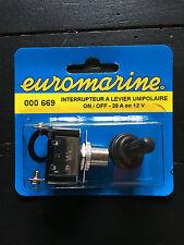 Interrupteur étanche  20A 12 V - ON / OFF  Cabochon+ plaque ON / OFF