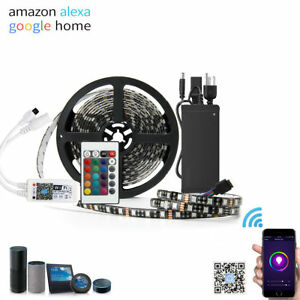 5M RGB 300Leds 3528/5050 SMD LED Strip Light + APP Wifi Contorller+Power Supply