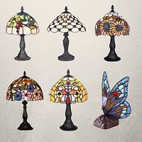 Stained Glass Tiffany Style Table Desk Bedside Home Decor Lamps Lamp Light