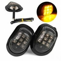 2x Motorcycle Flush Mount Turn Signal 9 LED Light Indicator Amber Lamp Universal