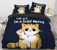 3D Cute Yellow Kitten Cat Paw KEP6855 Bed Pillowcases Quilt Duvet Cover Kay