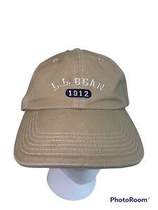 L.L. Bean 1912 Embroidered Logo Khaki Strap-back  Baseball Hat