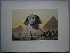 ca.1895 French photochrom EGYPT: SPHINX AND PYRAMIDS (#25)