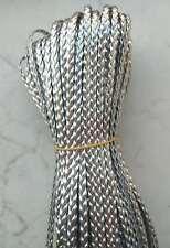 10mt cordino Pelle cuoio piatto larghezza 5mm colore argeo per bracciale,collana