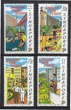 Singapore 1997  Public Housing Uprading Complete 4v MnH