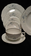Rosenthal Classic Sanssouci Cadet Blue ROSE  7- Piece Place Setting Germany