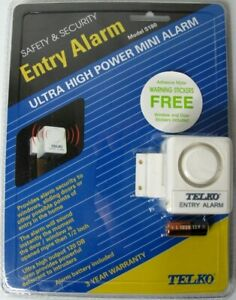 Telko Safety & Security Entry Alarm S180 Door Window Entry Alarm/Chime NEW