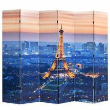 vidaXL Kamerverdeler Parijs bij Nacht 228x180 cm Zwart en Wit Kamerscherm
